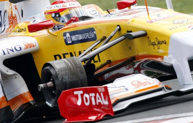 Alonso sin rueda
